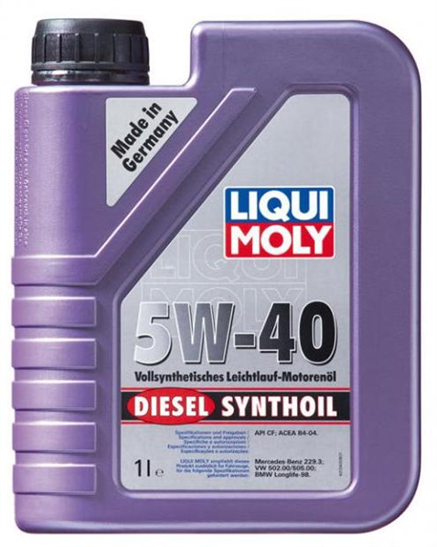Моторное масло Liqui Moly Diesel Synthoil 5W-40 1л - фото 4